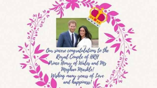 Україна привітала принца Гаррі і Меган Маркл з одруженням