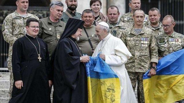 Папа Франциск у Ватикані зустрівся з українськими військовими