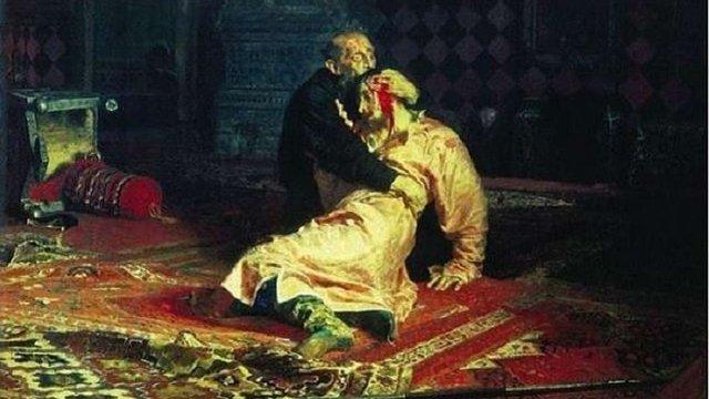 Відвідувач Третьяковської галереї у Москві знищив картину Іллі Рєпіна «Іван Грозний вбиває сина»