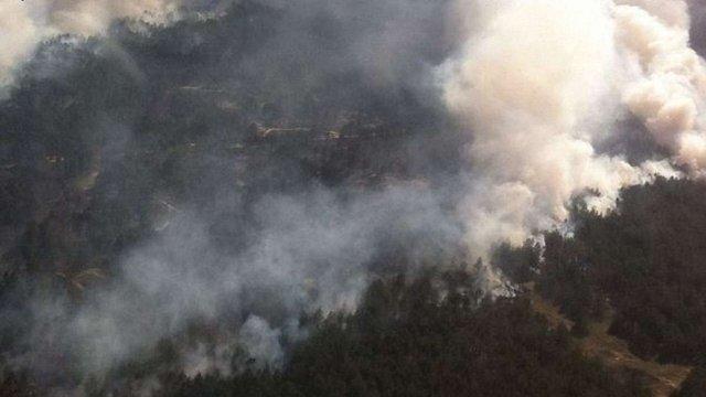 Понад 100 га лісу горять у Херсонській області
