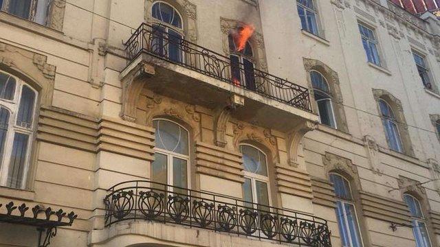 На вул. Чайковського у Львові трапилась пожежа у квартирі