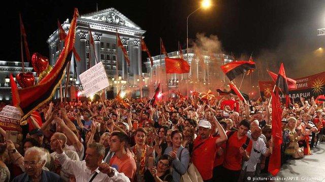 У Македонії відбулися масові протести проти перейменування країни