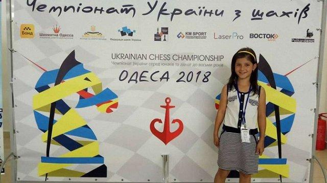 8-річна львів'янка Анастасія Гнатишин стала чемпіонкою України з шахів