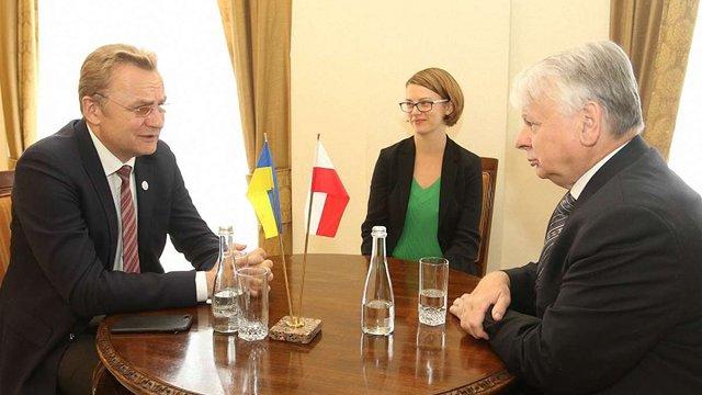 Мер Львова закликав віце-маршалка Сенату Польщі підтримати українських політв'язнів у Росії