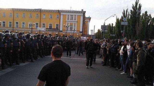 Київська поліція застосувала силу до праворадикалів, що протестували проти «Маршу рівності»