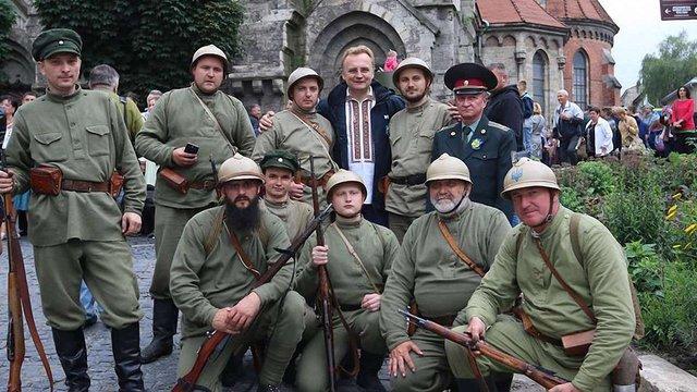 Мер Львова взяв участь у відкритті реконструкції бою «Чортківська офензива»