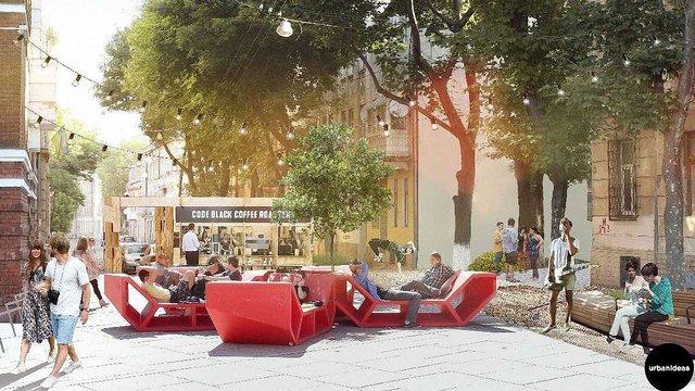 Львівські архітектори розробили проект громадського простору біля палацу Хоткевича