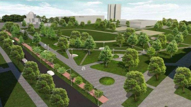 У Залізничному районі Львова створили новий сквер