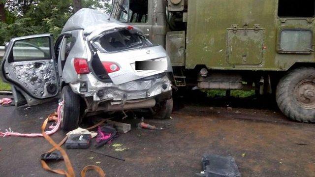 Дві жінки загинули в результаті зіткнення легковика з військовою вантажівкою на Тернопільщині