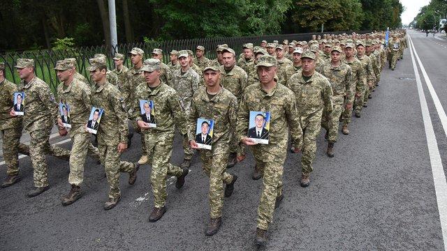 Центром Львова пройшли понад тисяча десантників, які повернулись зі Сходу