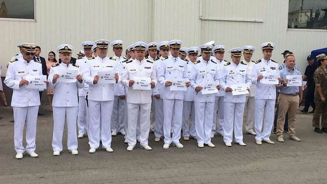 Українські військові моряки приєдналися до  всесвітньої акції на підтримку Сенцова