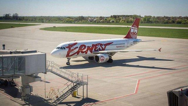 Ernest Airlines без пояснень скасував два авіарейси у львівському аеропорту