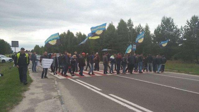 Шахтарі перекрили трасу до кордону на Львівщині
