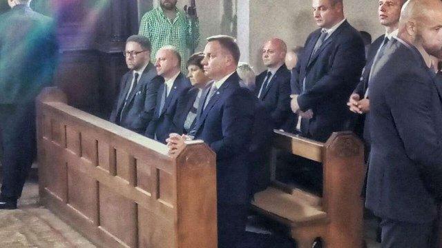 Польський президент Анджей Дуда у Луцьку вшанував пам'ять загиблих у Волинській трагедії