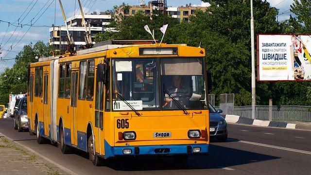 У Львові припинив роботу тролейбусний маршрут №10