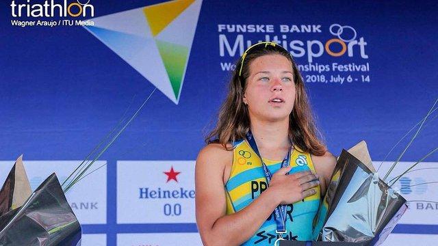 Львів'янка Софія Прийма стала чемпіонкою світу з акватлону