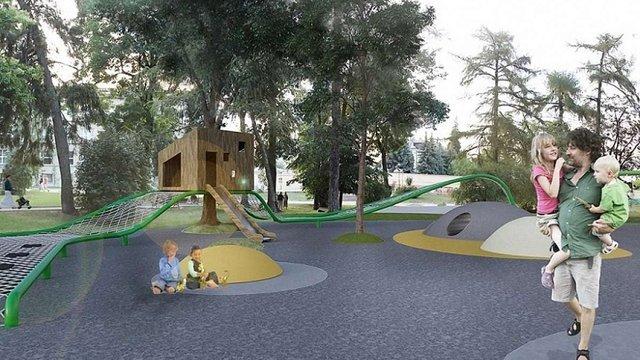 До Дня Незалежності у Львові відкриють дитячий майданчик на площі Святого Юра