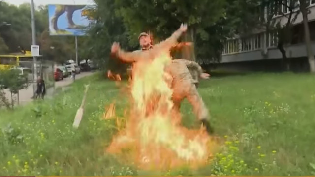 У Києві біля Міністерства оборони вчинив самоспалення колишній військовий