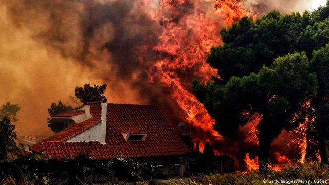 Кількість жертв масштабних лісових пожеж у Греції зросла до 88