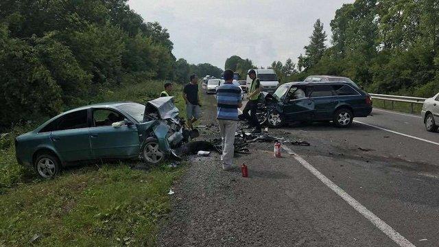 У лобовому зіткненні на трасі Львів-Тернопіль загинули обидва водії