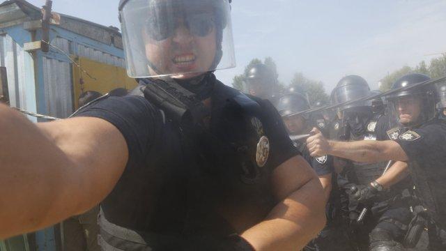 У Києві поліцейський розпилив газ у обличчя фотокореспонденту