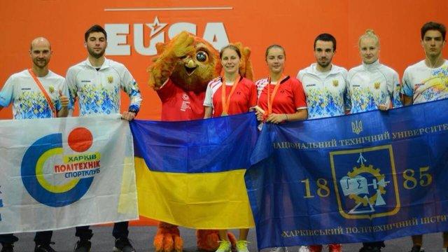 Українці здобули 10 нагород на Європейських університетських іграх