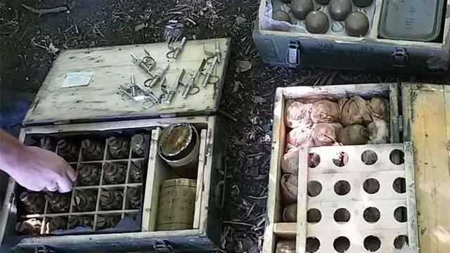 На Дніпропетровщині знайшли схованку з боєприпасами