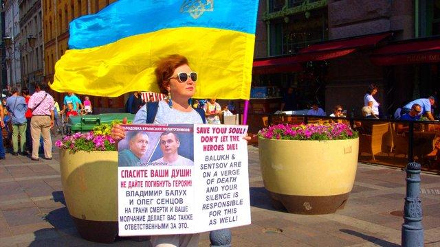 У Росії провели одиночні пікети на підтримку українських політв'язнів