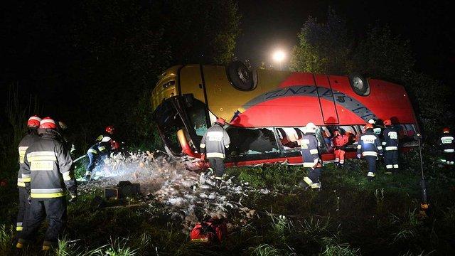 Водій львівського туристичного автобуса, що розбився в Польщі, не визнав своєї провини