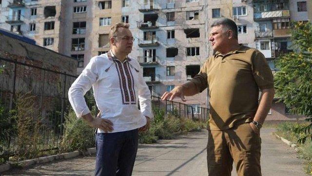 Мер Львова відвідав прифронтову Авдіївку