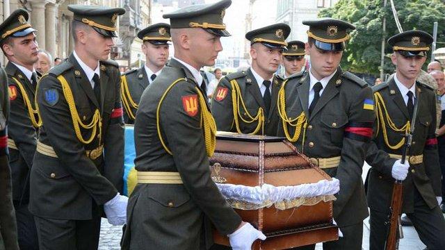 У Львові попрощалися із загиблим на Сході військовим медиком