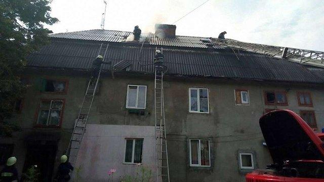 Під час пожежі у житловому будинку Борислава евакуювали мешканців