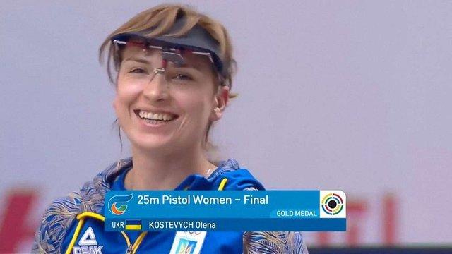 Українка Олена Костевич стала чемпіонкою світу з кульової стрільби з 25 метрів