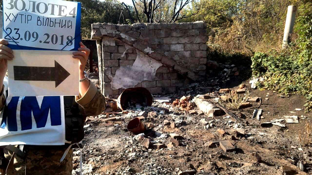 З'явилися фото зруйнованих бойовиками будинків у звільненому хуторі на Луганщині