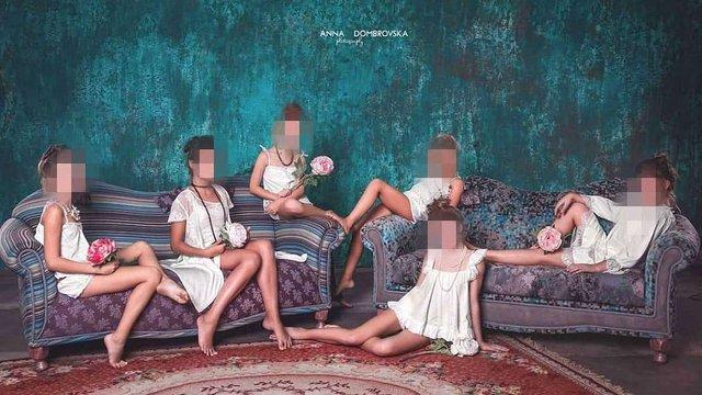 Для реклами нижньої білизни в Одесі використали фото дітей у сексуальних позах