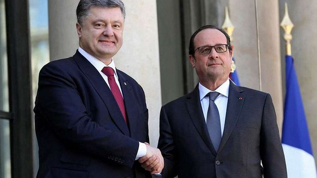 Петро Порошенко нагородив Франсуа Олланда орденом Свободи