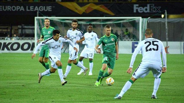 «Ворскла» програла у Лізі Європи «Спортінгу», двічі пропустивши у кінці матчу