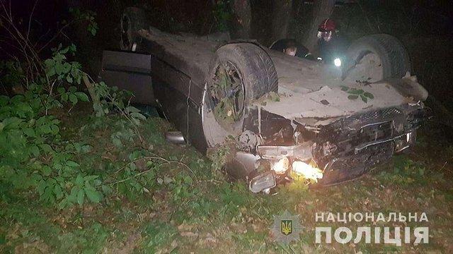 На Самбірщині перекинулось авто, 33-річна пасажирка загинула