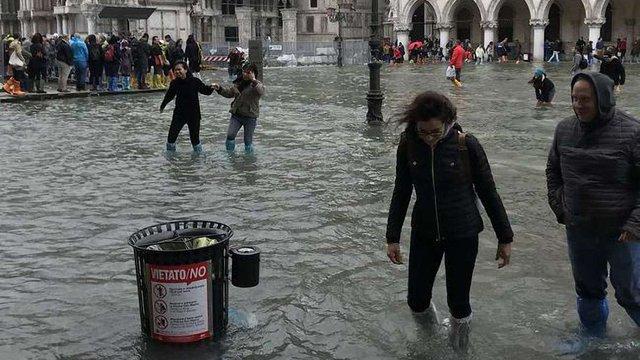 Через сильні дощі центр Венеції затопило на 75%