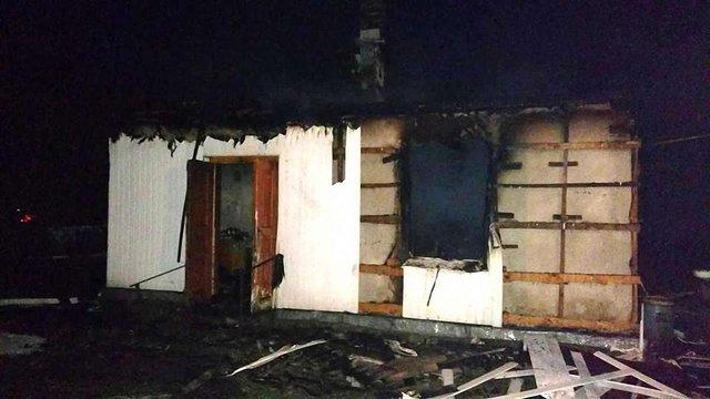 На Яворівщині під час пожежі у літній кухні загинув чоловік