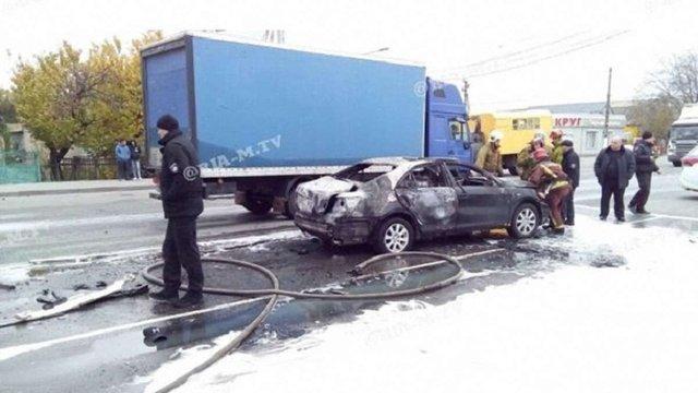 У Мелітополі в автомобілі під час руху вибухнув газовий балон