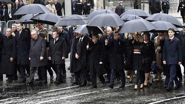 У Парижі 70 світових лідерів відзначили століття закінчення Першої світової війни