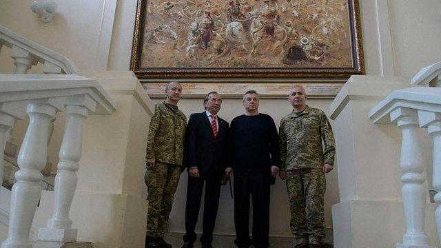 Приміщення Генштабу прикрасили полотнами переможних українських битв XVI-XVII ст.