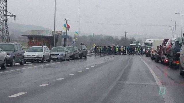«Авто Євро Сила» вдруге заблокувала трасу Київ-Чоп на Львівщині