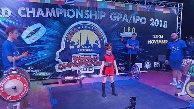 Шестикласниця з Житомирщини встановила світовий рекорд зі станової тяги