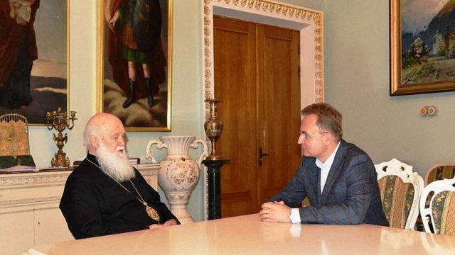Патріарх Філарет зустрівся з міським головою Львова Андрієм Садовим