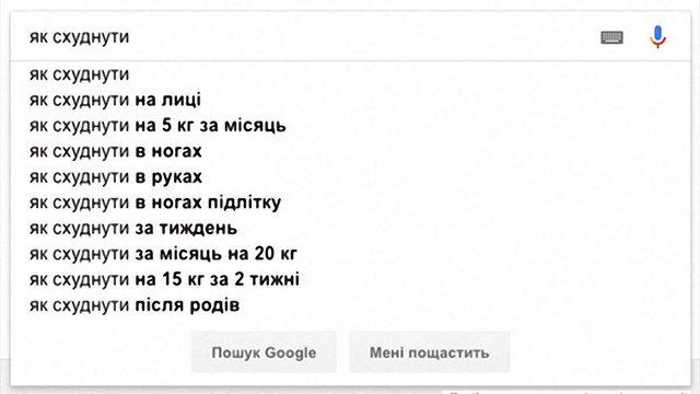 Українці перестали масово шукати в інтернеті способи схуднення