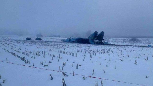 ЗМІ оприлюднили фото з місця катастрофи Су-27 на Житомирщині