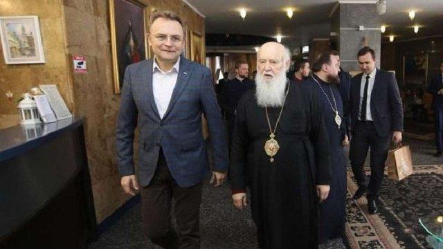 Патріарх Філарет зустрівся з мером Львова Андрієм Садовим