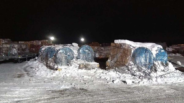 Аеропорт «Бориспіль» не впорався із напливом вантажів перед зимовими святами